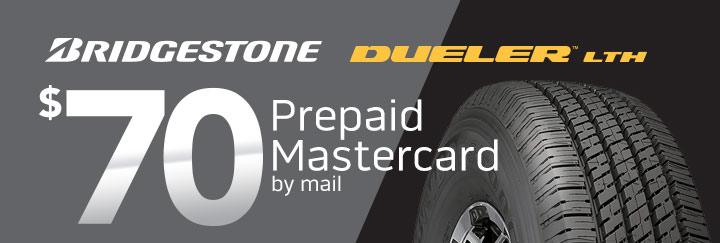 Bridgestone Dueler LTH $70 Rebate