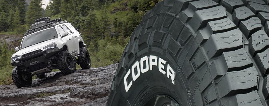 Cooper white letter sidewall truck tires