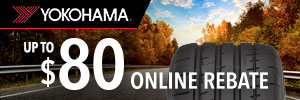 up to $80 Yokohama Tire Rebate