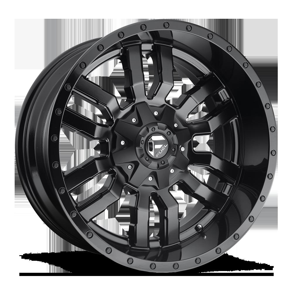 Image of Fuel Wheels Sledge 22 X9.5 8-180.00 20 BKMTXX