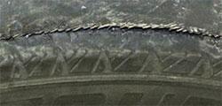 Tire belt separation