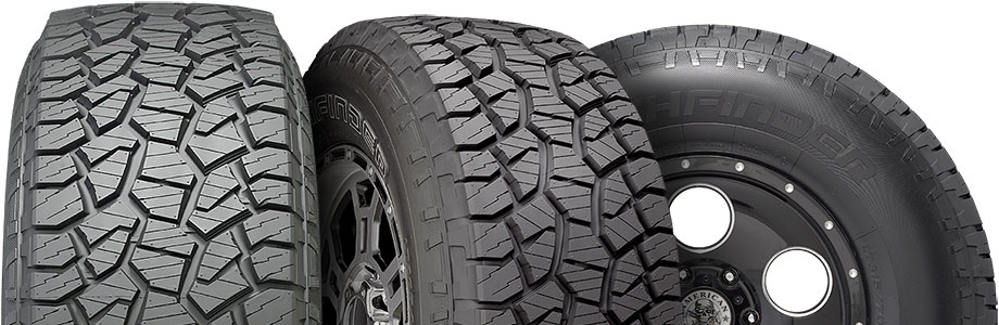 three tire view of pathfinder AT