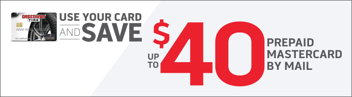 Use your Discount Tire credit card and save