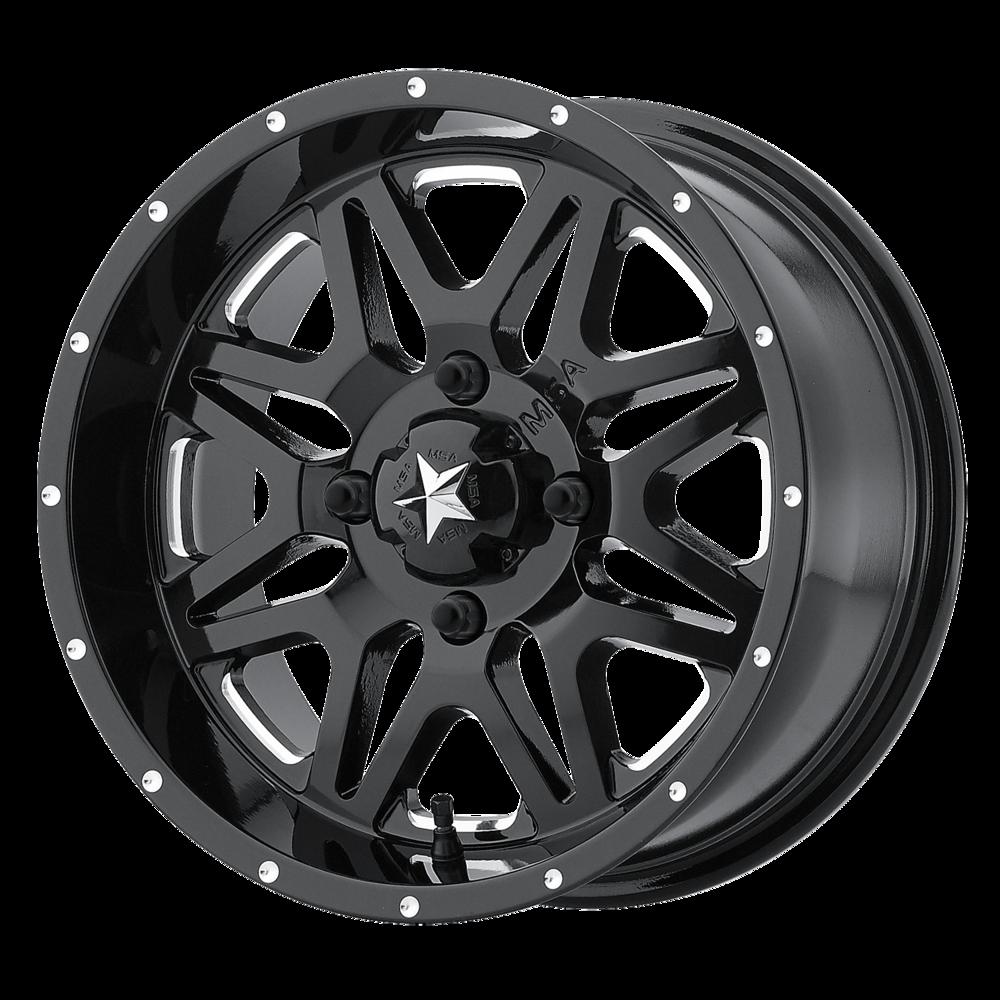 Image of MSA Offroad Wheels M26 Vibe 14 X7 4-156.00 4+3 BKGLBM