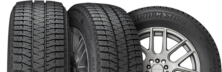 three tire view of bridgestone blizzak ws90