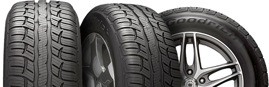 three tire view of the bfgoodrich advantage ta sport lt