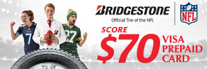 $70 Bridgestone Rebate