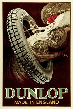 dunlop tire art