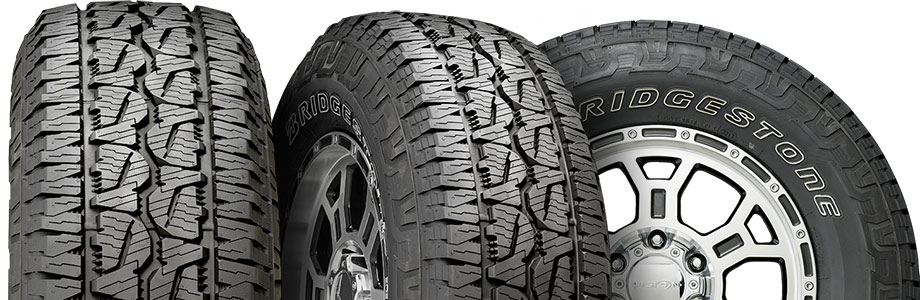 three view tire of bridgestone dueler AT revo 3