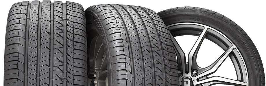 three tire view of goodyear eagle sport as