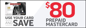 Up to $80 Discount Tire Credit Card Rebate