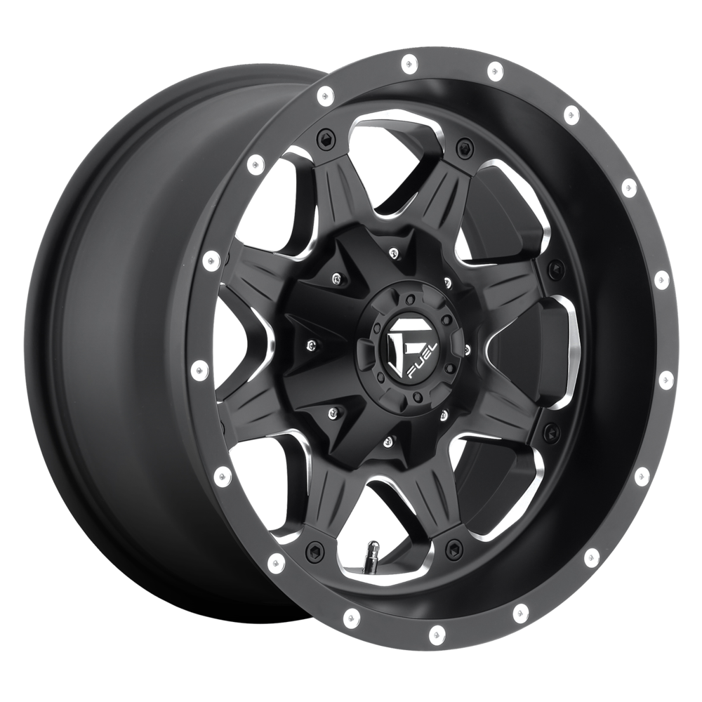 Image of Fuel Wheels Boost 18 X9 6-135.00/139.70 -12 BKGLBM