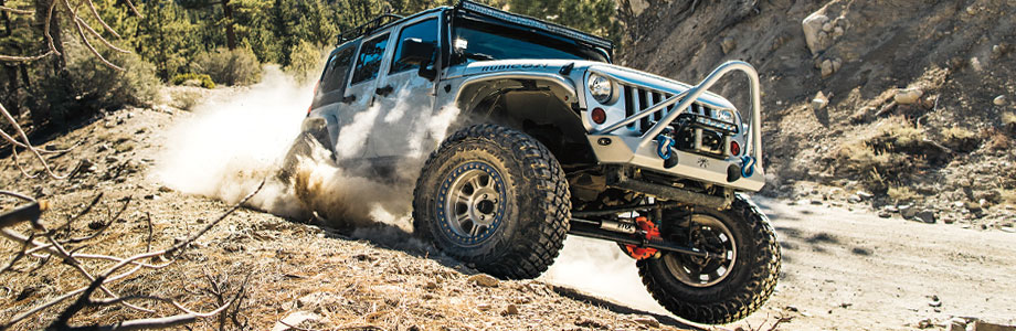 Jeep wrangler with KM3 tires