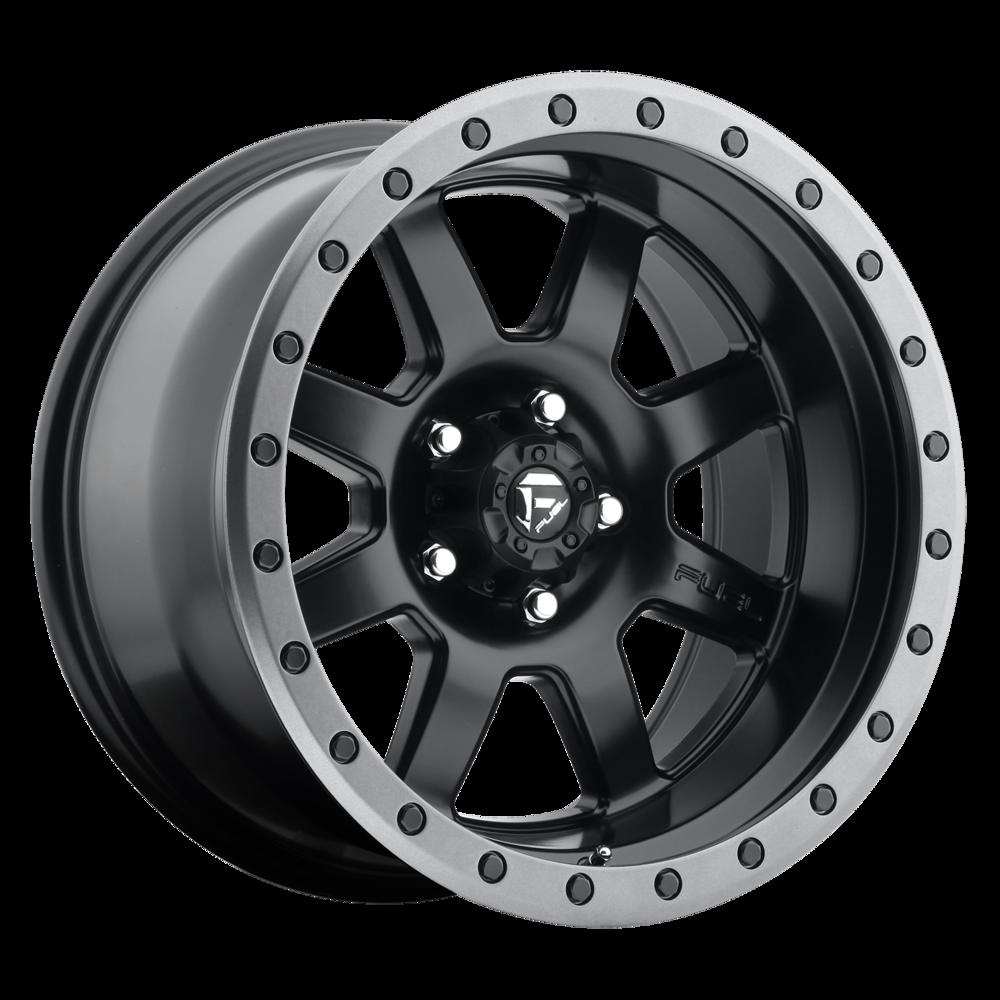 Image of Fuel Wheels Trophy 17 X8.5 6-139.70 -6 BKMTGL