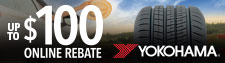 up to $100 Yokohama Tire Rebate