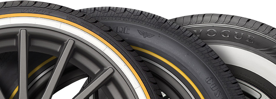 sidewall view of vogue tires