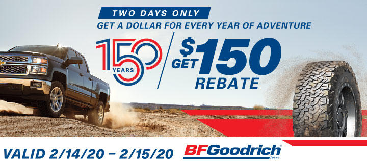 BFGoodrich $150 Rebate