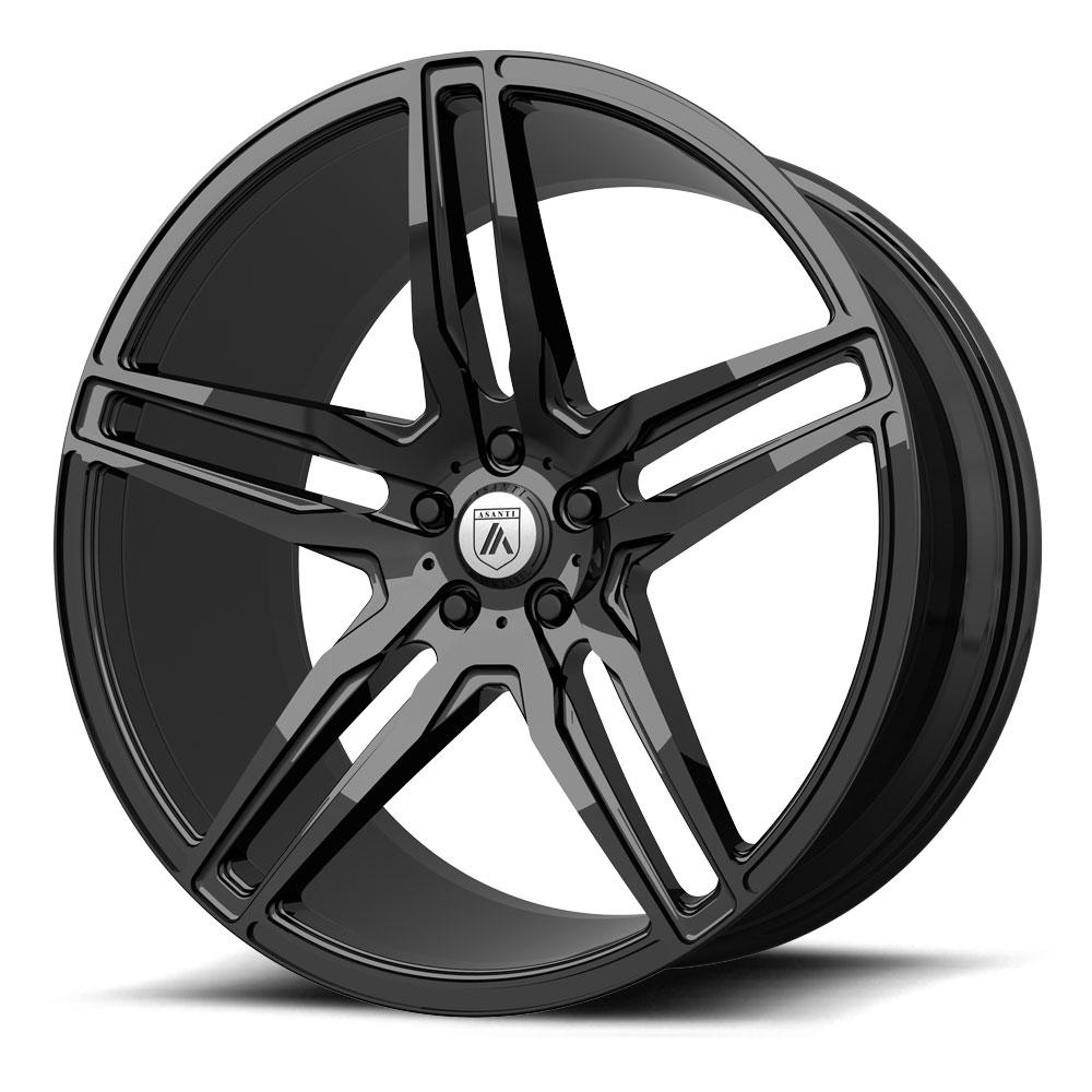 Image of Asanti Wheels ABL-12 20 X8.5 5-112.00 38 BKGLXX