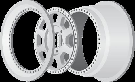 Multi-Piece Wheels