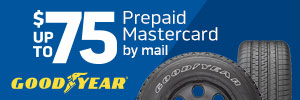 Up to $75 Goodyear Tire Rebate