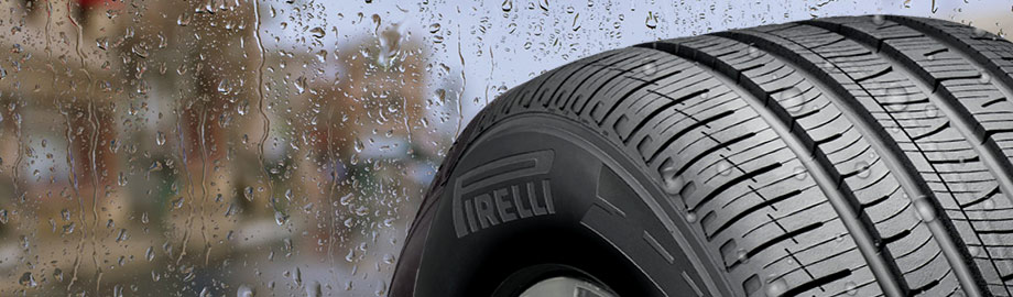 all season tire facing rain