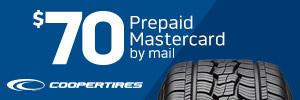 $70 Cooper Tires Rebate