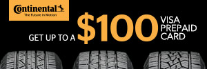 up to $100 Continental Tire Rebate