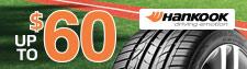 up to $60 Hankook Tire Rebate