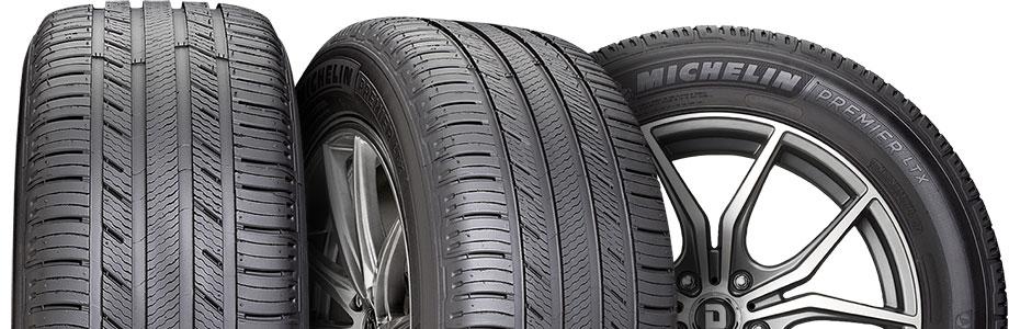 three tire view of michelin premier ltx