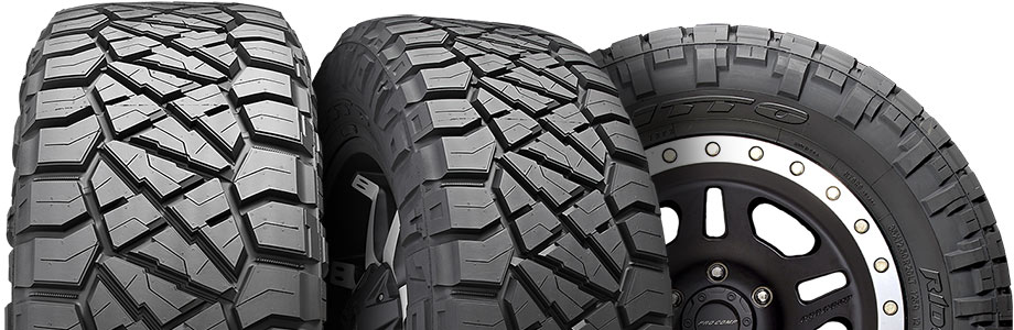 three tire view of nitto ridge grappler