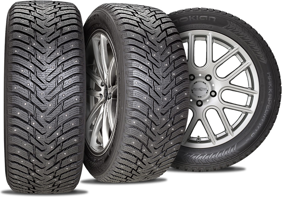 Nokian Hakkapeliitta 8 studded - winter tires - three views
