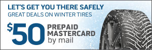 $50 Winter Tire Rebate