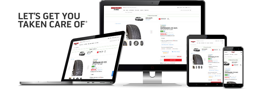 Buy tires and wheel online at Discount Tire