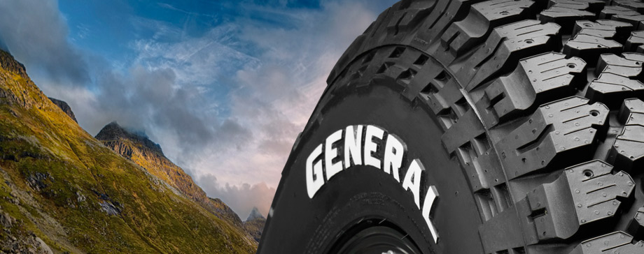 General Tire white letter sidewall truck tires