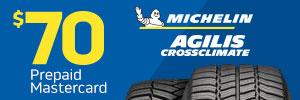 $70 Michelin Agilis CrossClimate Rebate