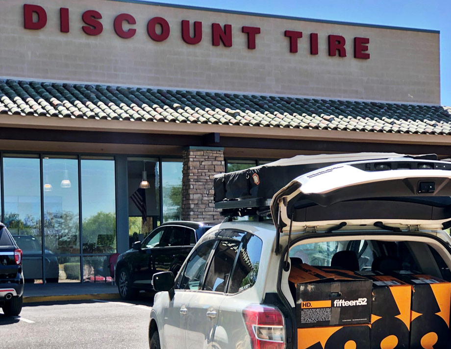 fifteen52 wheels at discount tire store