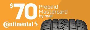 $70 Continental Tire Rebate
