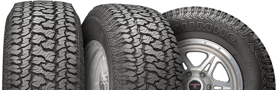 three tire view of kumho road venture