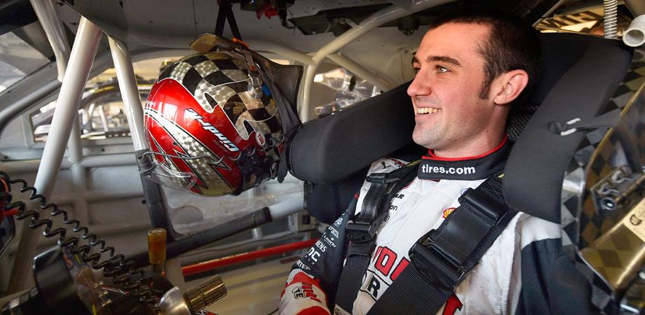 austin cindric in his race car