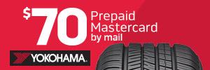 $70 Yokohama Tire Rebate