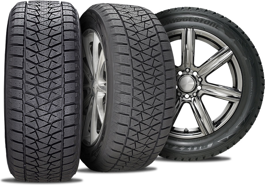 snow tire and rim package