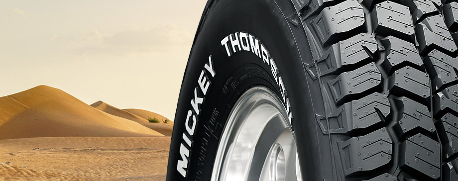 Mickey Thompson white letter sidewall truck tires