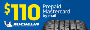Exclusive $110 Michelin Rebate
