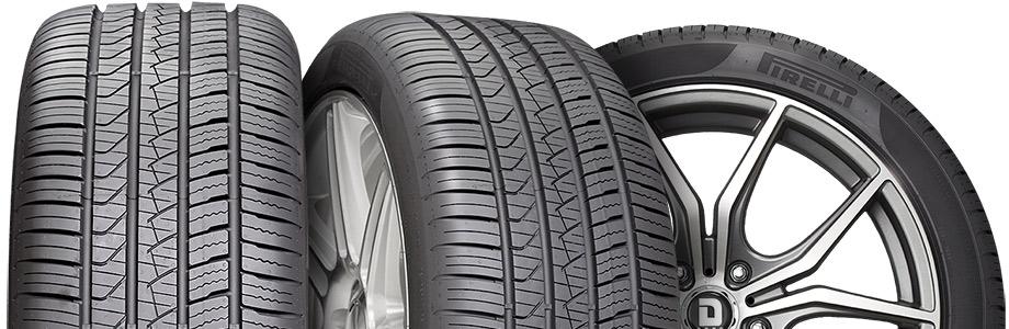 three tire view of pirelli p zero all-season plus
