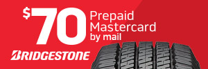 $70 Bridgestone Tire Rebate