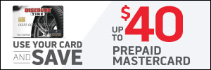 Up to $40 Discount Tire Credit Card Rebate