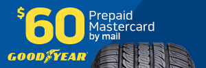 $60 Goodyear Tire Rebate
